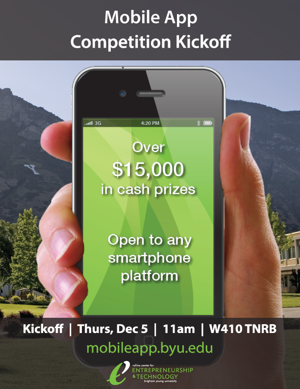 BYU Mobile App Competition Kickoff Flyer